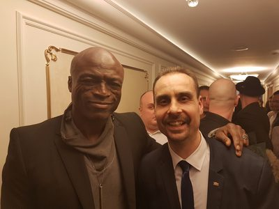 Actor Andrey Da! with Seal (Musician)