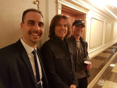 Actor Andrey Da! with Joey Tempest and Ian Haugland ('Europe' Rock Band)