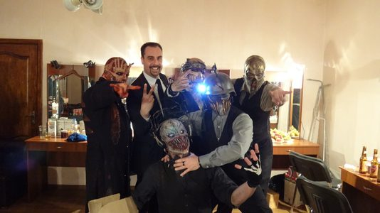 Actor Andrey Da! with MushroomHead (Heavy Metal Band)