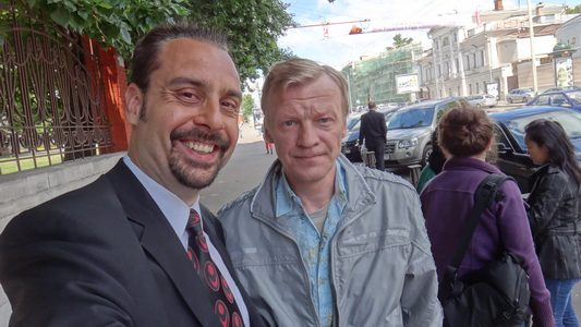 Actor Andrey Da! with Aleksey Serebryakov (Russian-Canadian Actor)