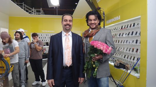 Actor Andrey Da! with Philipp Kirkorov (Bulgarian-Born Russian Pop Singer)
