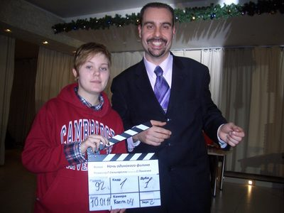 Actor Andrey Da! with Clappers